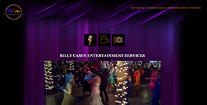 A professional website created for a DJ Entertainment Service